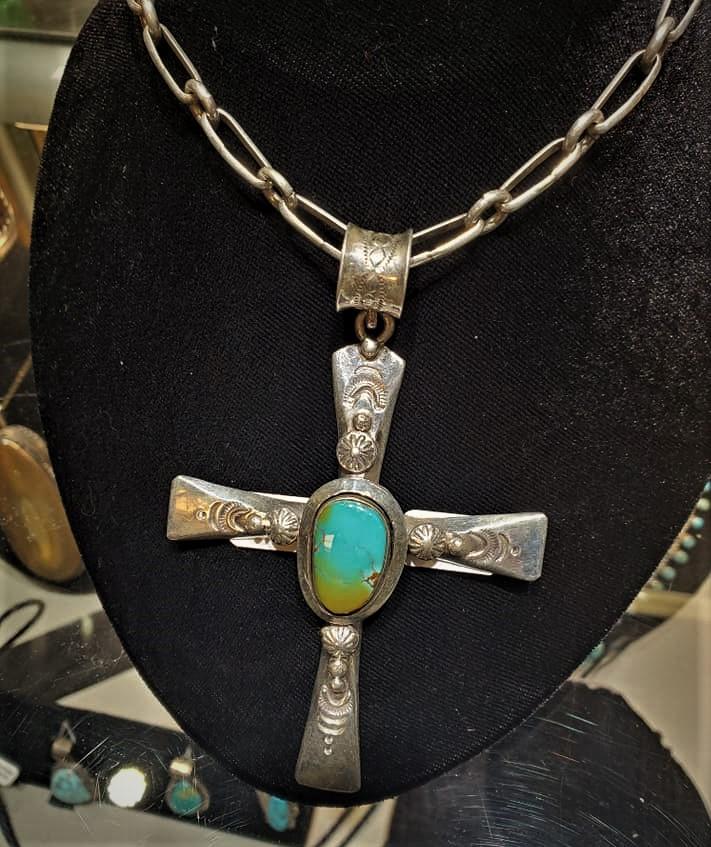 Ben Begaye Royston Cross Pendant