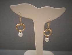 Door Knocker Style Pearls & Diamonds