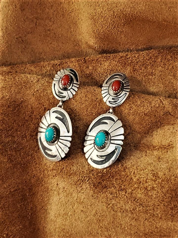 Navajo Jeff Largo Earrings