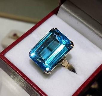 16x20mm Swiss Blue Topaz