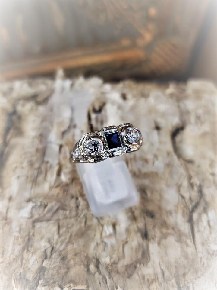 1ctw Diamond .30ct Sapphire