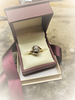 .25ctw Diamond Cluster Ring