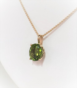 Faceted Oval Peridot Pendant