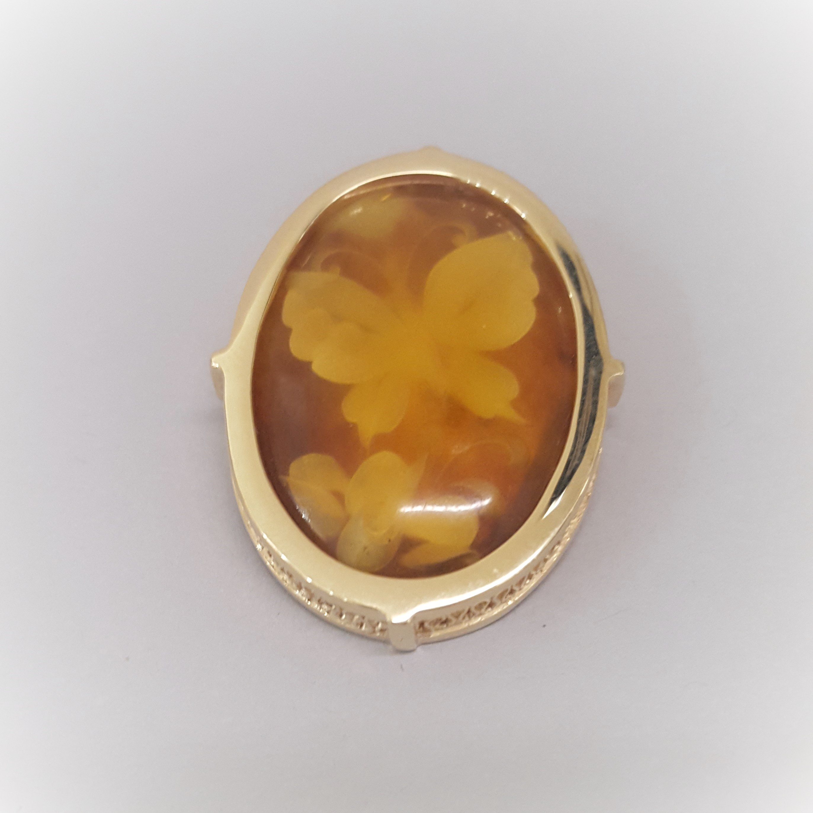 Reverse Hand Carved Amber