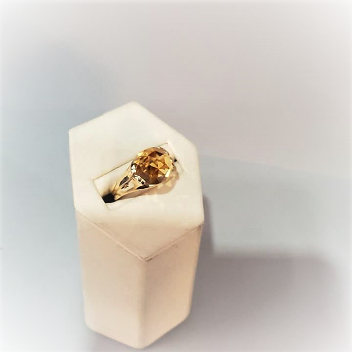 10mm Rose Cut Citrine