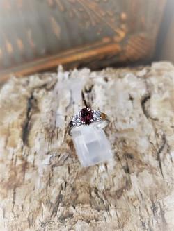 .70ct Pink Tourmaline .50ctw Diamonds Ring