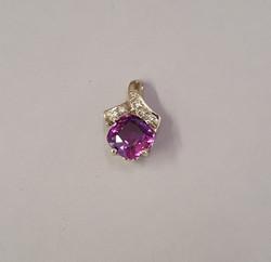 Purple Sapphire & Diamonds