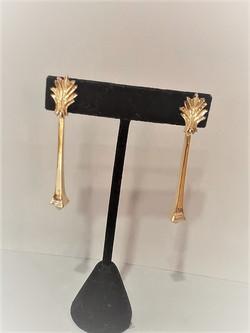 Solid 14k Gold Peridot Drop Earrings