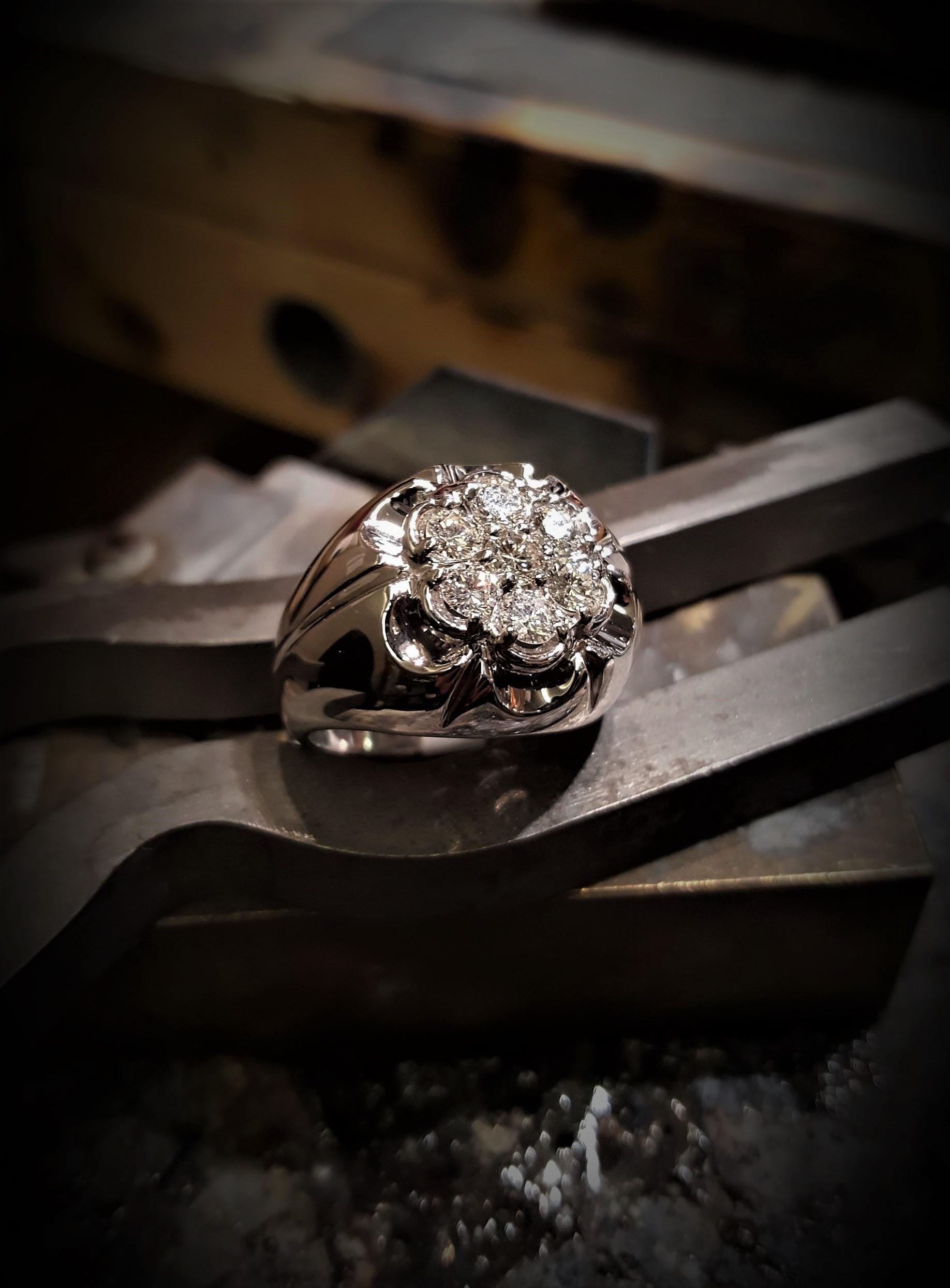 1.26ctw VS G-H Diamond Cluster