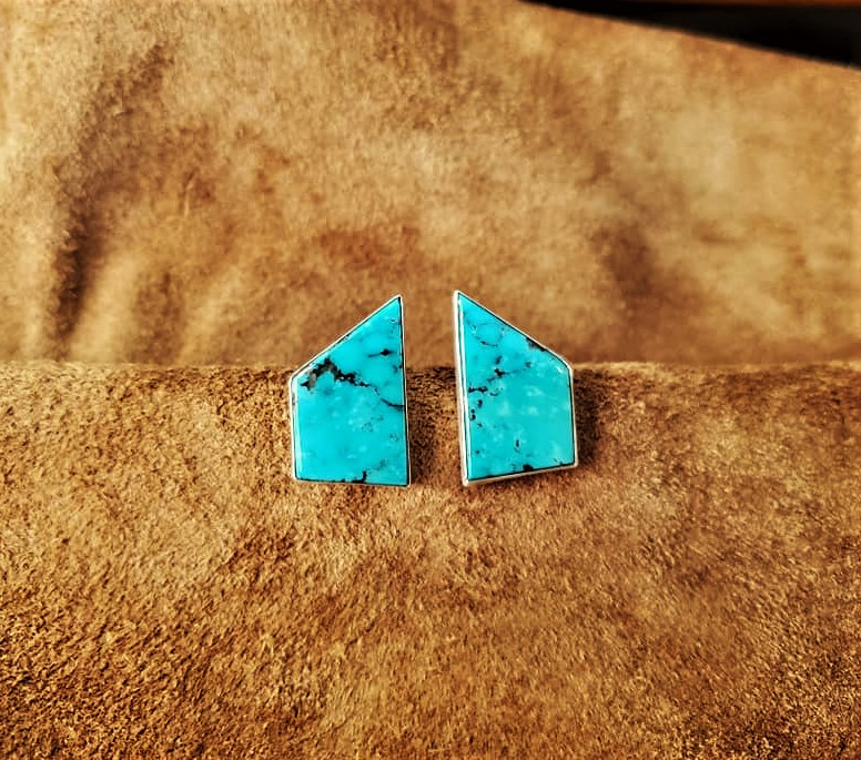 Navajo SJ Turquoise Earrings