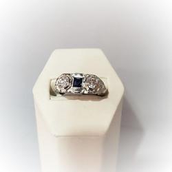 1ctw Sapphire & Diamond Ring