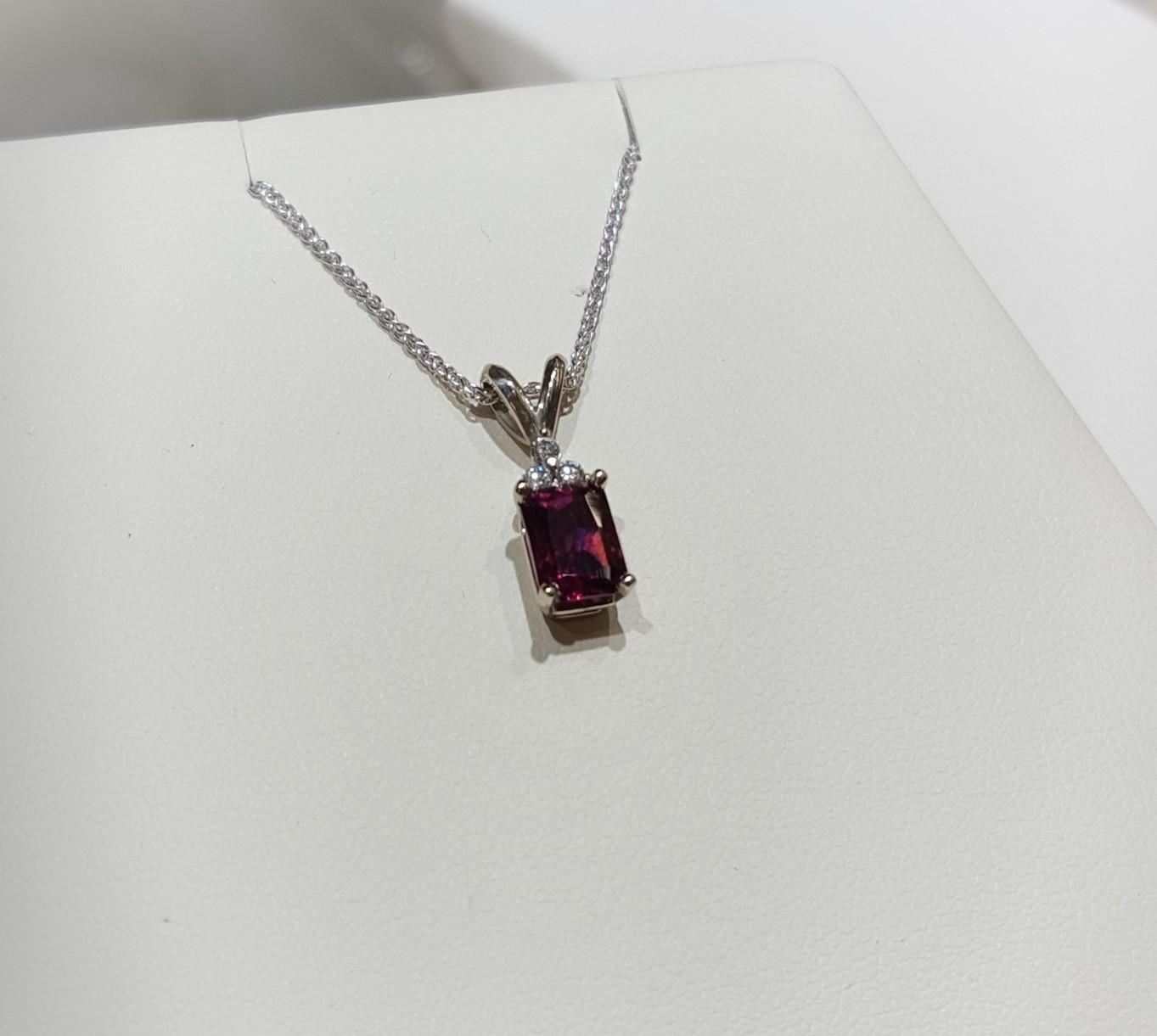 Rhodolite Garnet Diamond Accents