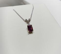 Rhodolite Garnet Diamond Accents