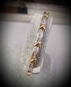 4.5ctw Diamond Bar Link