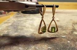 4.38ctw Peridot Earrings