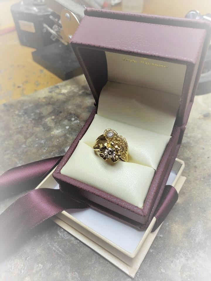 Diamond Floral Wedding Set