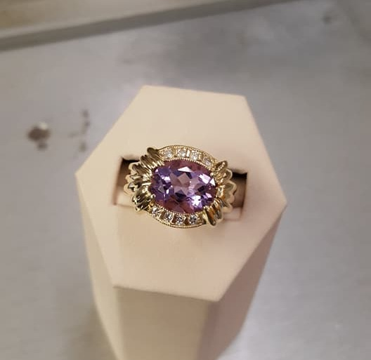 Amethyst .25ctw Diamond