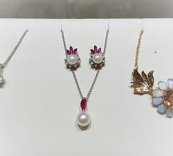 Pearl, Ruby & Diamond Set