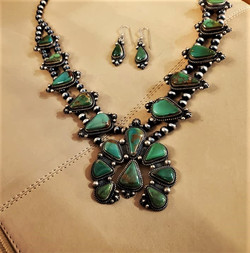 Fred Charley Squash Blossom Necklace