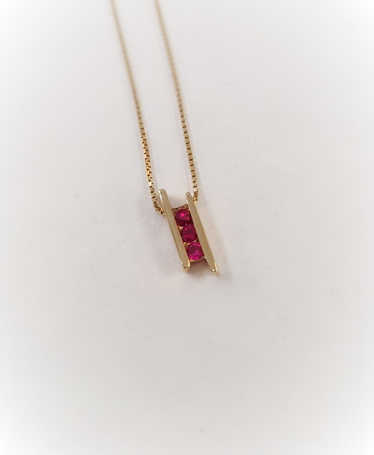 Modernist Ruby Pendant