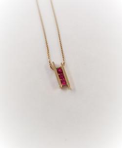 Modernist Ruby Pendant