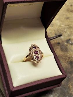 Ruby 3-Stone Dinner Ring
