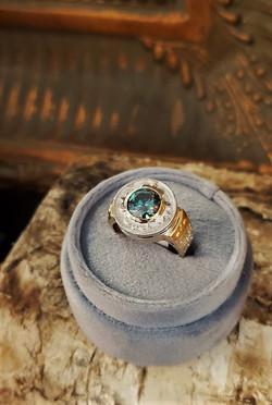 2.50ct Moissanite Teal Blue