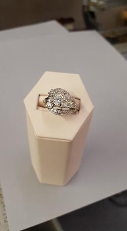 Vintage 1.35ctw Diamond Dinner Ring