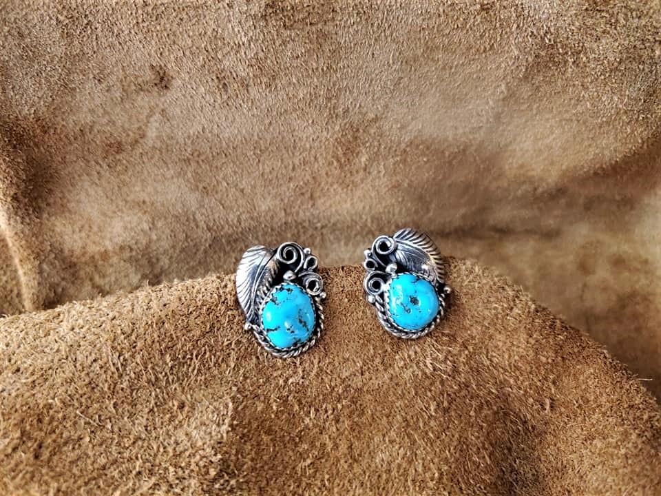 Navajo E/R Sleeping Beauty Earrings