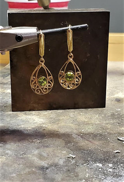 1.50ctw Peridot Earrings