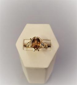 Golden Tourmaline .10ctw Diamonds