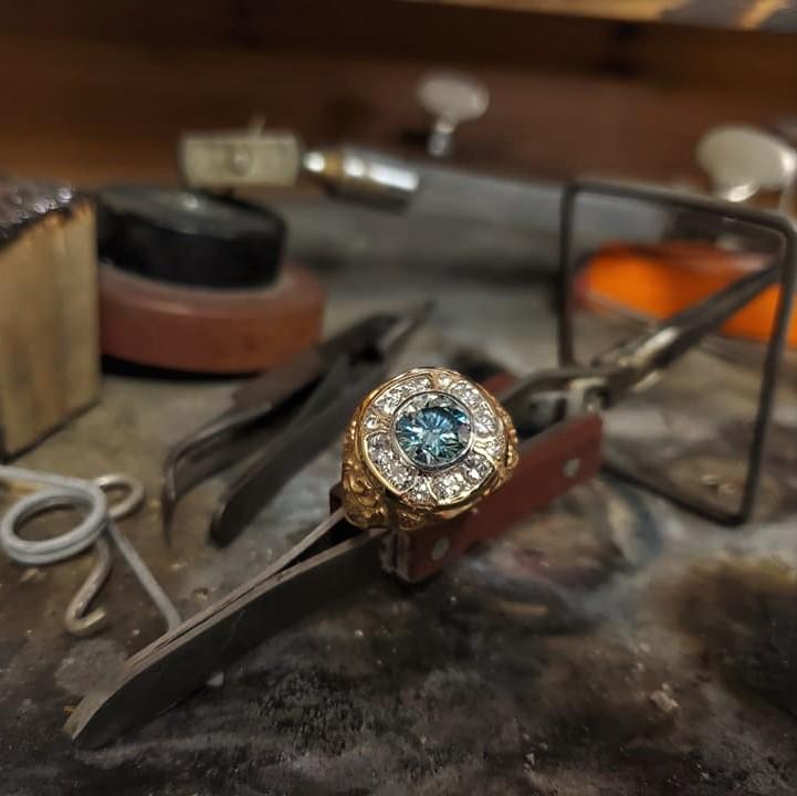 1.80ct Moissanite 1.38ctw Diamonds