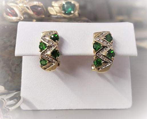 Tsavorite Garnet & Diamond