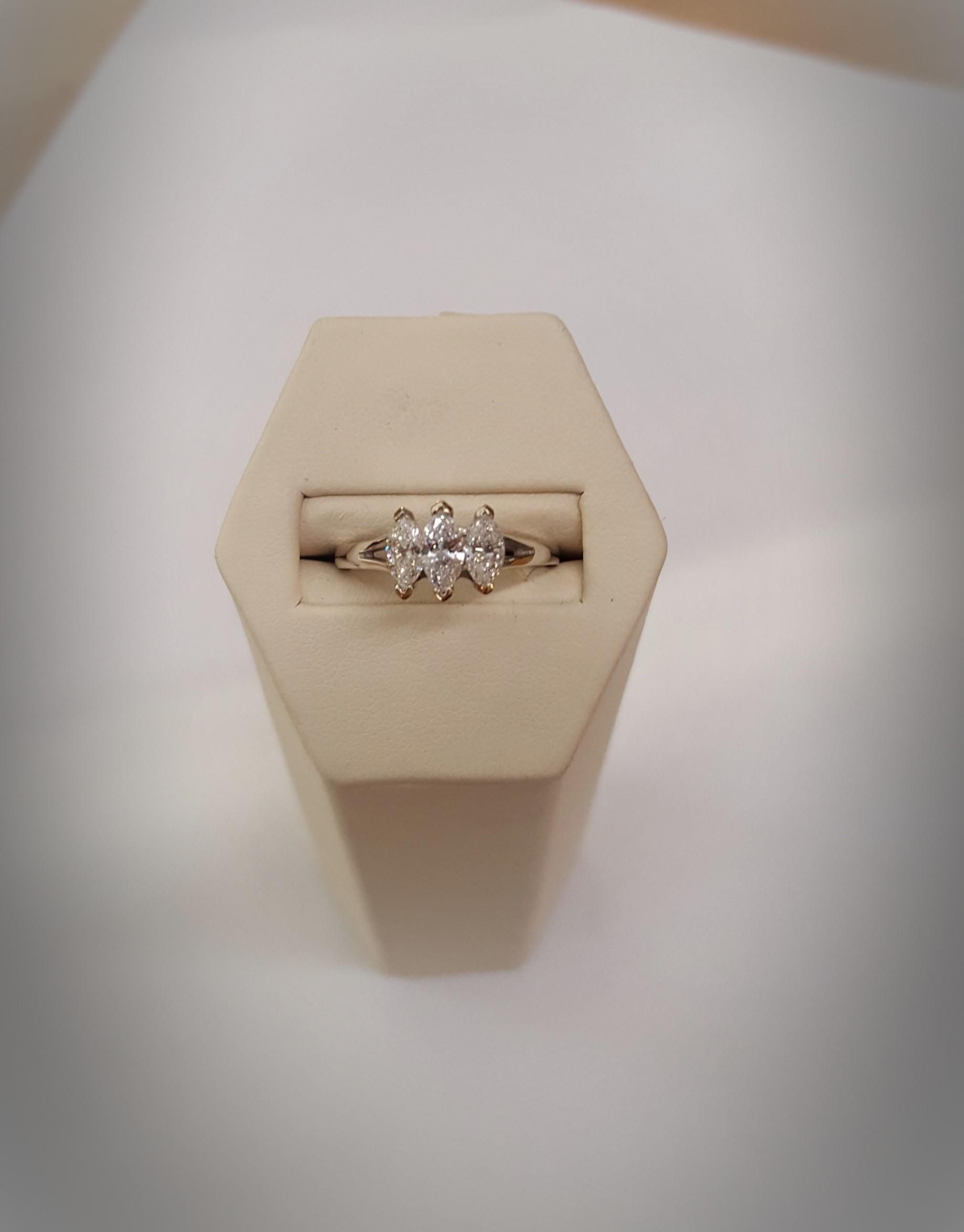 .90ctw 3-Stone Marquise Engagement