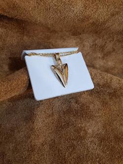 Arrowhead & Diamond Pendant