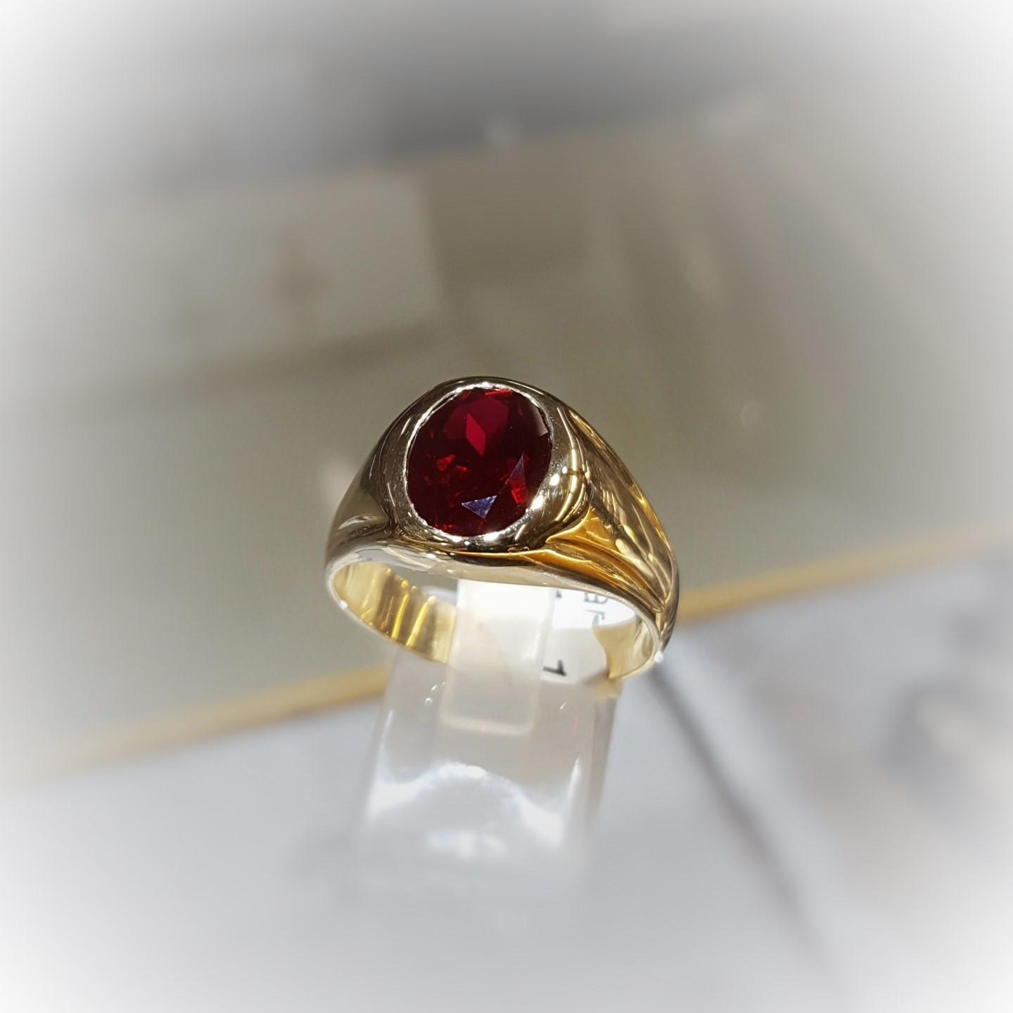 Garnet Signet Ring