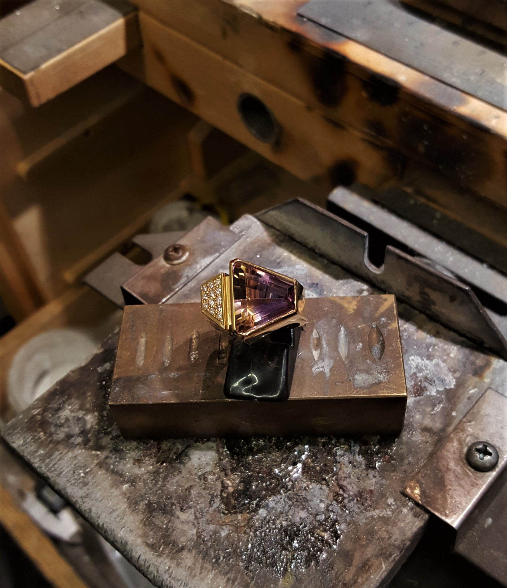 Ametrine with .24ctw Diamonds