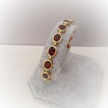 Oval Garnet Bracelet