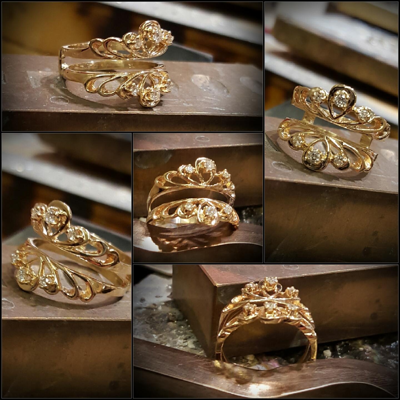 .25ctw Diamond Engagement Ring Guard