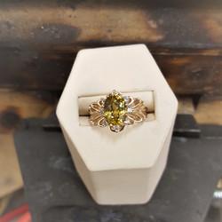 1.28ct Titanite .20ctw Diamonds