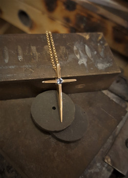 Amethyst Cross Pendant