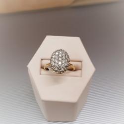 Oval Shape Diamond Cluster
