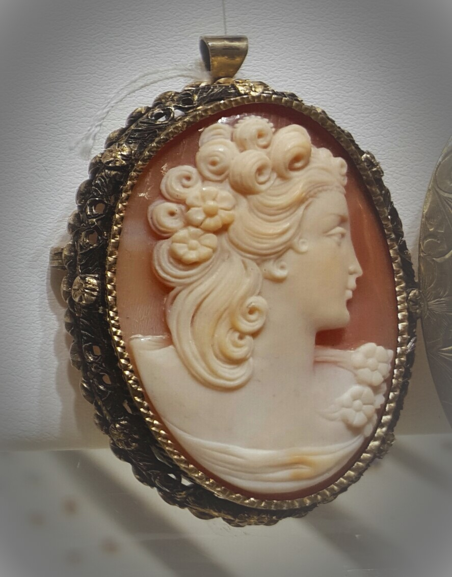Carved Cameo Pin/Brooch