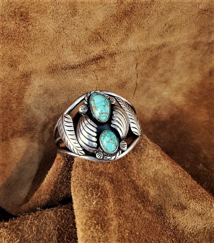 Navajo Thompson Platero Cuff Bracelet