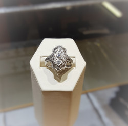 Antique 3-Stone Diamond Dinner