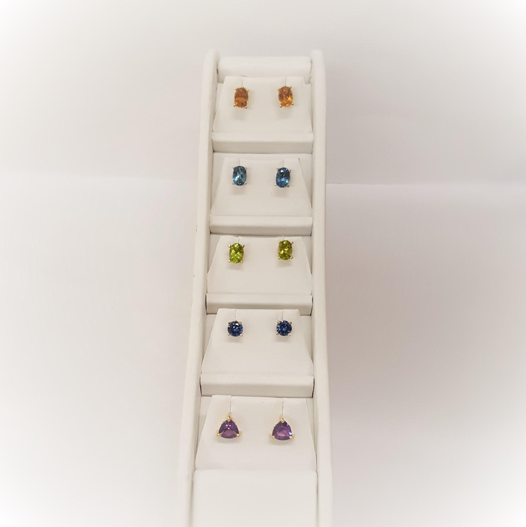 Semi-Precious Gemstone Studs