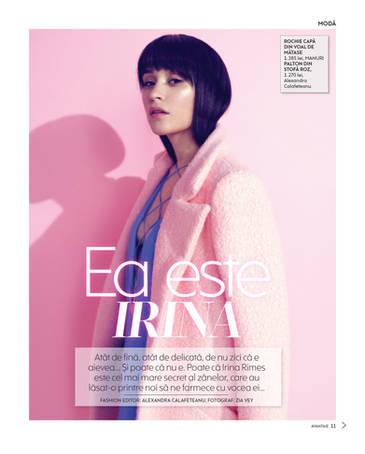 Irina Rimes pentru Revista Avantaje