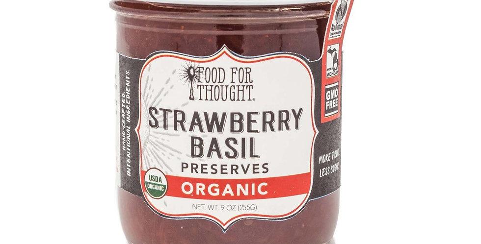 Organic Strawberry Basil Jam