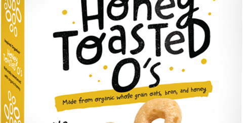 Inspired Organics Honey Toasted O's cereal