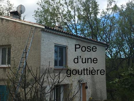 Pose d'une Gouttière